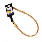 Läderhalsband, rundsytt, Ljusbrunt, 10mm x 50cm