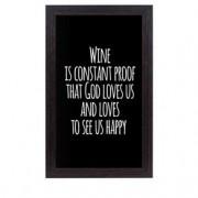 Quadro Porta Rolhas de Vinho Deus quer a nossa Felicidade
