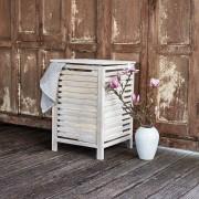 WENKO Norway dřevěný koš na prádlo, přírodní bílá
