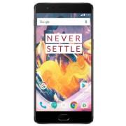 "Telefon Mobil OnePlus 3T A3000, Procesor Quad-Core 2.35GHz / 1.6GHz, Optic Amoled Capacitive touchscreen 5.5"", 6GB RAM, 64GB Flash, 16MP, Wi-Fi, 4G, Dual Sim, Android (Gri) + Cartela SIM Orange PrePay, 6 euro credit, 4 GB internet 4G, 2,000 minute nationa"