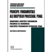 Principii fundamentale ale dreptului procesual penal - Garantarea libertatii persoanelor - Prezumtia de nevinovatie - Egalitatea persoanelor in procesul penal.