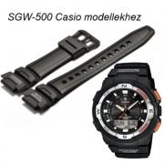 SGW-500 Casio fekete műanyag szíj