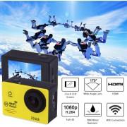 "Cámara Deportes SJ7000 1080P 2.0"" WiFi 170°Sports Camera US PLUG-Amarillo"