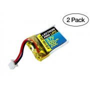 2-Pack of Lectron Pro 3.7 volt - 100mAh 20C Lipo Batteries for Estes Proto X / Syncro X Nano Quadcop