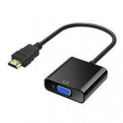 Adaptor convertor HDMI digital la VGA analog HDMI A tata la VGA mama - fara sunet Negru