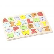 Puzzle de lemn, Tăbliță pentru potrivirea și învățarea alfabetului