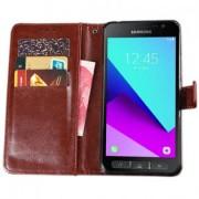 Samsung Galaxy Xcover 4 flip cover - Mörkrosa