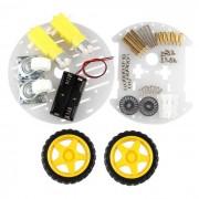 Obstaculo Smart Car Robot inteligente de trazado del coche evitacion de coches - amarillo