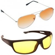 Magjons Aviator Sunglasses(Orange)