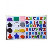 NT Educational Alpha, Numbers & Shapes for Kids. Let Them Learn The Combo of Alphabet,Number and Shapes