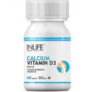 INLIFE Calcium Vitamin D3 60 Tablets For Healthy Bone Knee Joint Health