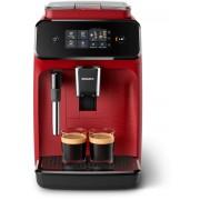 Espressor complet automat Philips EP1222/00, 2 băuturi, 15 bar, 1.8 L, 12 setări de măcinare, Sistem clasic de spumare a laptelui, Afişaj tactil, Filtru AquaClean, Roşu