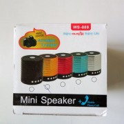 RNY Bluetooth Speaker WS-889 (Multicolour) WS-889 Mini Bluetooth Wireless Speaker with Mic FM Micro SD Card Slot AUX Mode Memory Card Bluetooth USB. (High Quality Speakers Multicolour Colour)