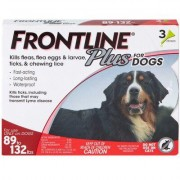 Frontline Plus 3pk Dogs 89-132 lbs by MERIAL