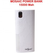 Callmate Power Bank Mosac 15000 mah - White - 6 Months Warranty