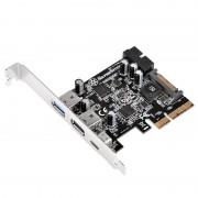 Silverstone ECU05 Placa de Expansão PCIe 2.0 USB 3.0/USB 3.1 Tipo-C