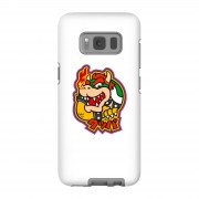 Nintendo Funda móvil Nintendo Super Mario Bowser Kanji para iPhone y Android - Samsung S8 - Carcasa doble capa - Brillante
