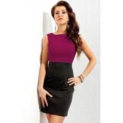 Sukienka 132 (amarantowo-czarny)