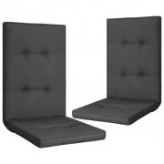 vidaXL Coussins de chaise de jardin 2 pcs Anthracite 120x50x5 cm