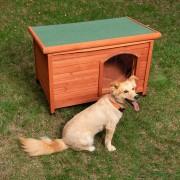 Niche Woody à toit plat pour chien - taille S : l 85 x P 57 x H 58 cm
