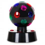 Disco-Ball Efeito de luz 4 LEDS Preto 13,5cm