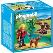 Комплект Плеймобил 5562 - Бобри с турист - Playmobil, 291144