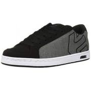 Etnies Kingpin 2 Zapatillas de Skate para Hombre, Negro, Gris, Blanco, 7.5 US