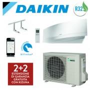 Daikin Climatizzatore Daikin Emura White Ftxj25mw / Rxj25m 9000 Btu Wi-Fi Gas R32 + Staffe