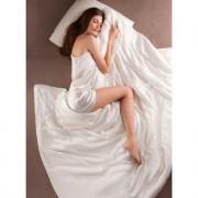 Bettdecke 100% Seide, Standardgrösse, 200 x 220 cm, allergikergeeignet, cremeweiss