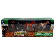 Country Life Farm Animal Set Five Horses With/Without Saddles (05593F)