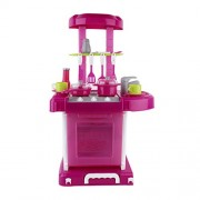 Kebidu Multifunctional Children Play Toy Girl Baby Toy Large Kitchen Cooking Simulation Table Model Utensils Toys