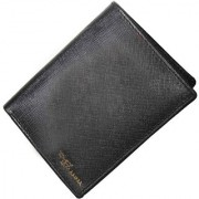 Tamanna Men Black Genuine Leather Wallet (8 Card Slots)
