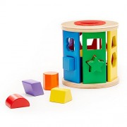 Melissa and Doug Match and Roll Shape Sorter - Classic Wooden Toy, Multi Color