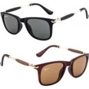 Rich Club Cat-eye Sunglasses(Black, Brown)