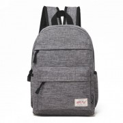 Universal Multi-Function Canvas Cloth Laptop Computer Shoulders Bag Leisurely Backpack Students Bag Size: 36x25x10cm For 13.3 inch and Below Macbook Samsung Lenovo Sony DELL Alienware CHUWI ASUS HP (Grey)
