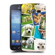 Husa Samsung Galaxy Core 4G LTE G386F Silicon Gel Tpu Model Puppies Collage