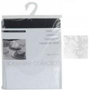 Tafelkleed kerst stof 180x130 cm wit