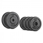 Capital Sports IPB 15 KG, Set de greutăți, 4 x 1,25 kg și 2 x 5 kg, 30 mm (PL-IPB-SET5)