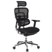 Hjh Sedia da ufficio ERGOMAX, ergonomica con varie opzioni di regolazione, colore nero