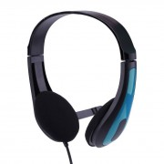JM-472 Universal Computer Laptop PC Headphone Ergonomic3.5MM Wired Playing Game Headset Red/Blue