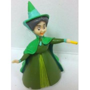 Disney Sleeping Beauty Princess Aurora's Fairy Fauna 3 Figure Doll Toy Cake Topper