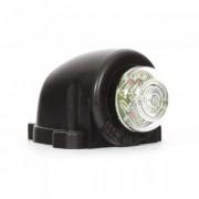 Lampa gabarit auto KM100 12V/ 24V cu LED, rotunda , culoare Rosu, cu cablu,1 buc.