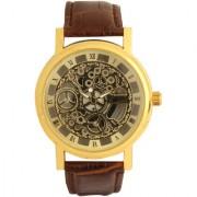 i DIVAS Skeleton Transparent See-Through Gold Case Super-Luxury Watch