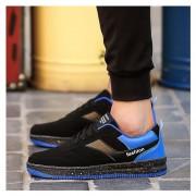 Nueva Zapatos Planos Zapatillas Tennis Casuales Corrida Calzado Deportivo -Negro Y Azul