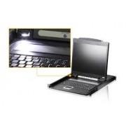 Consola KVM Aten CL1000N, nr de calculatoare conectate: 0 - Necesita switch KWM, marime LCD: 19 inch, rackmount