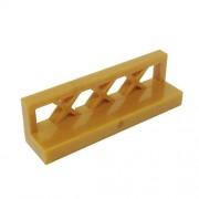 Lego Parts: Fence 1 x 4 x 1 (Latticework) (Pearl Gold)