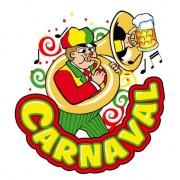 Geen Carnaval decoratie raamsticker muzikant trombone 35 x 40 cm