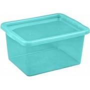 Cutie depozitare cu capac 18 litri albastru deschis