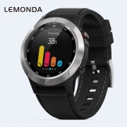 LEMONDA M4 1.3-inch IPS Round Screen Sport with GPS Compass Barometer Smart Watch - Silver