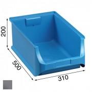 Allit Kunststoffboxen plus 5, 310 x 500 x 200 mm, grau, 6 stk.